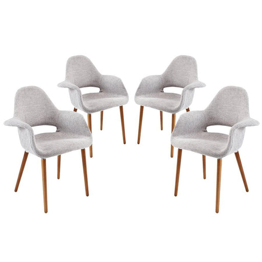 Modway Furniture Taupe Dining Armchair Set Of 4