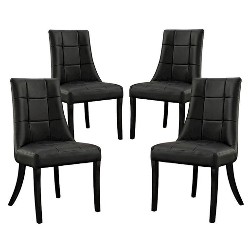 Modway Furniture Noblesse Vinyl Dining Chair Set of 4
