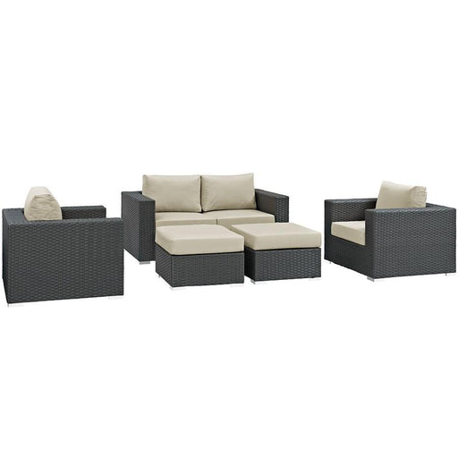 Modway Sojourn 5 Pc, Loveseat/2 Chairs/2 Otto
