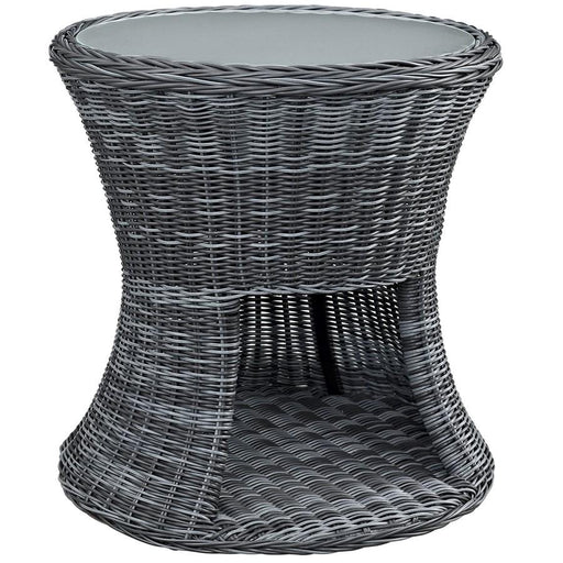 "Modway Furniture Summon Outdoor 25"" Patio Side Table, Gray"