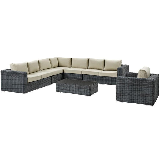 Modway Summon 7 Pc Outdoor Sectional Set