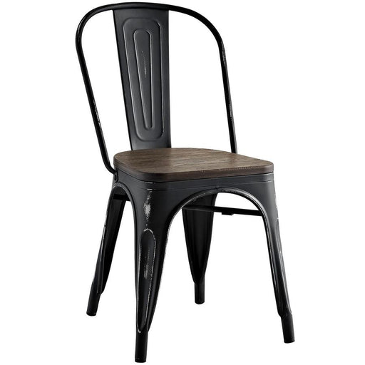 Modway Furniture Promenade Bamboo Side Chair, Black