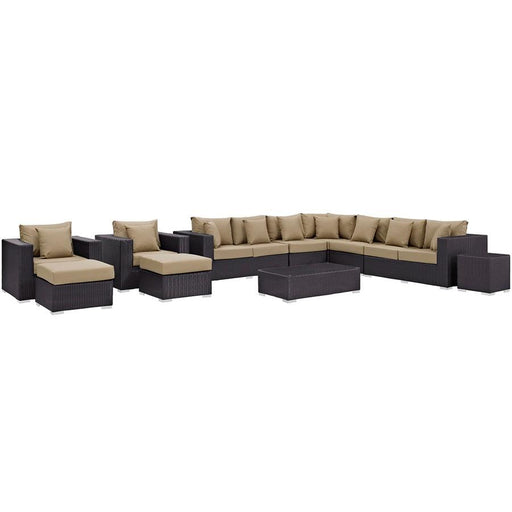 Modway Convene 11 Piece Outdoor Sectional Set