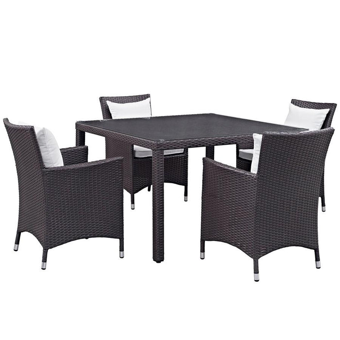 Modway Convene 5 Pc Outdoor Dining Set