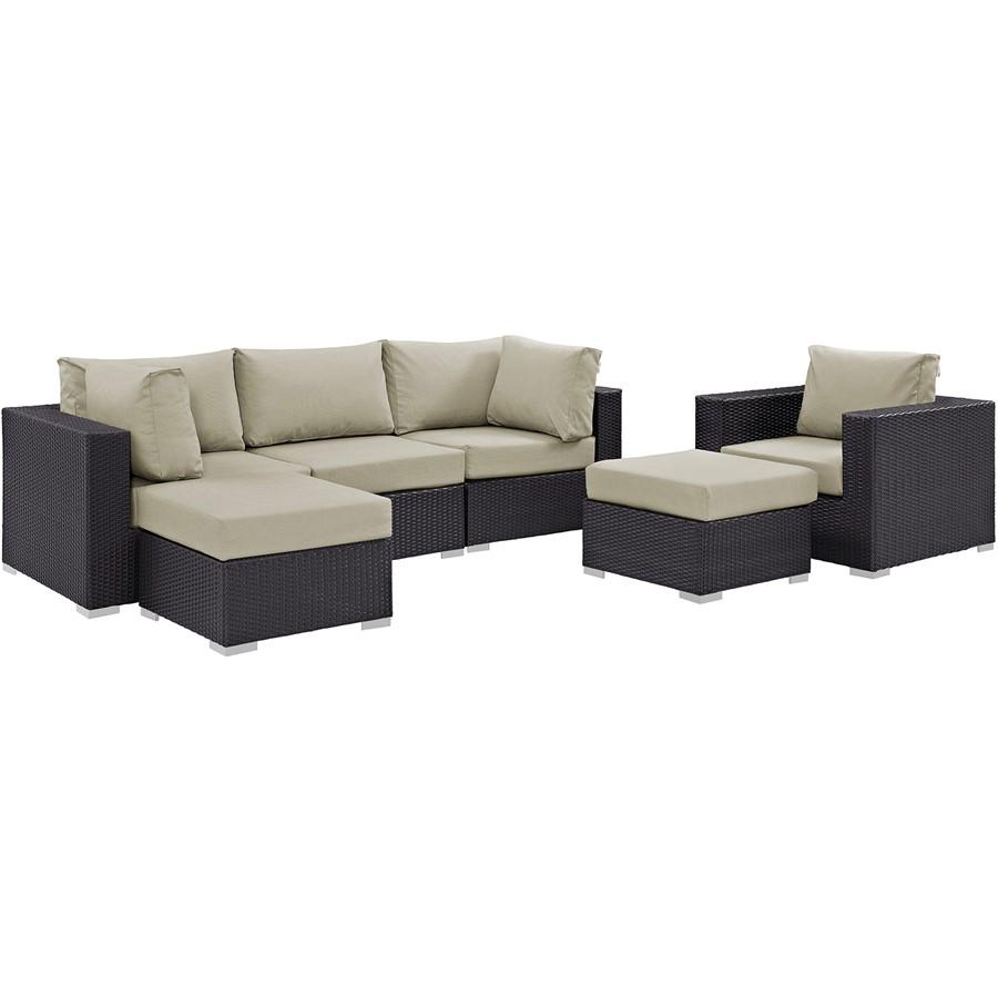Modway Convene 6 Pc Outdoor Sectional Set