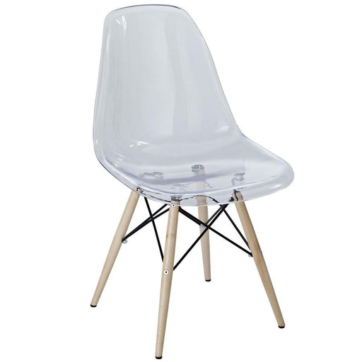 Modway Furniture Pyramid Dining Side Chair, Clear - EEI-2315-CLR