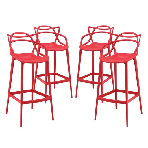 Modway Furniture Entangled Bar Stool Set of 4