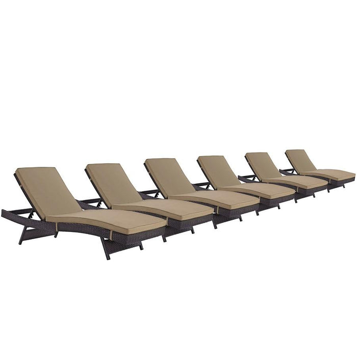 Modway Convene Chaise Outdoor Set of 6