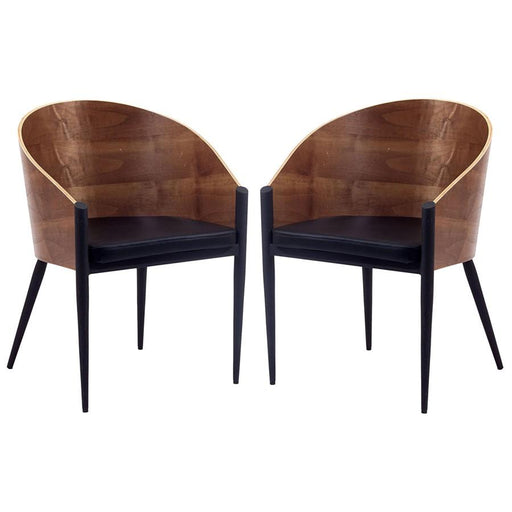 Modway Furniture Cooper Dining Chairs Set of 2, Walnut - EEI-915-WAL