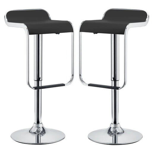 Modway Furniture LEM Bar Stool Vinyl Set of 2, Black - EEI-927-BLK