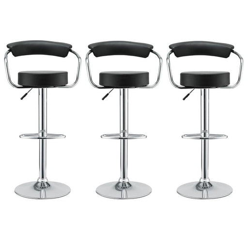 Modway Furniture Diner Bar Stool Set of 3, Black - EEI-931-BLK
