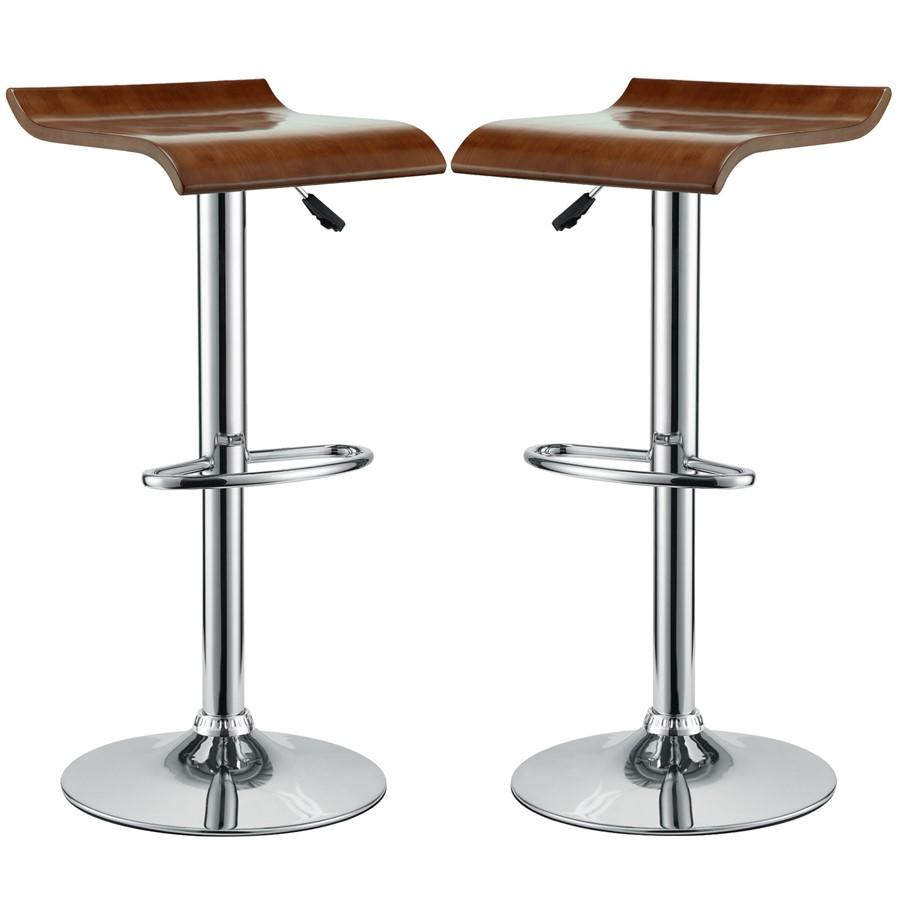 Modway Furniture Bentwood Bar Stool Set Of 2, Oak - EEI-936-OAK