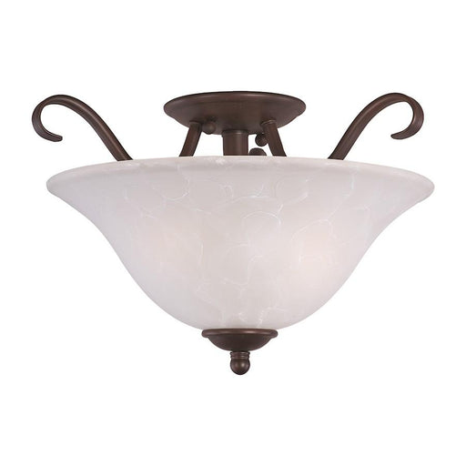 Maxim Lighting Basix 2 Light Semi Flush Mount, Oil Rubbed Bronze