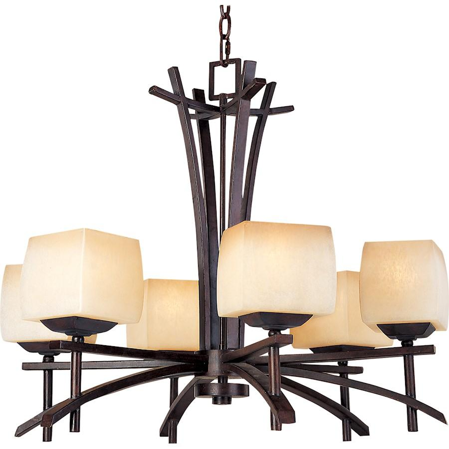 Maxim Lighting Asiana 6 Light Chandelier, Roasted Chestnut