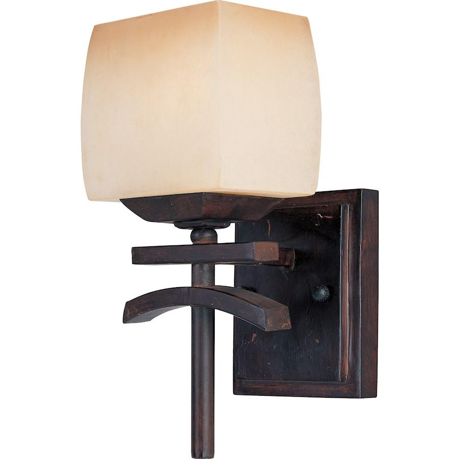 Maxim Asiana 1-Light Wall Sconce Roasted Chestnut