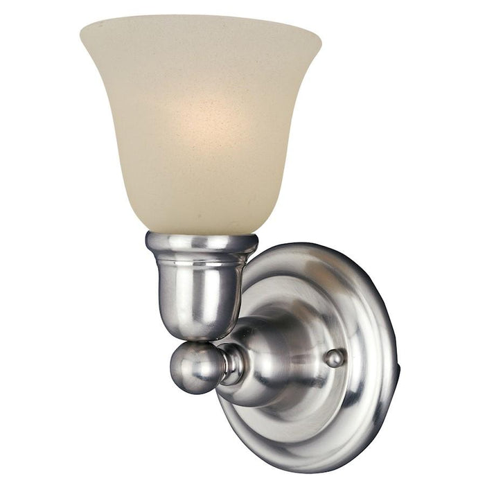 Maxim Lighting Bel Air 1 Light Wall Sconce, Satin Nickel