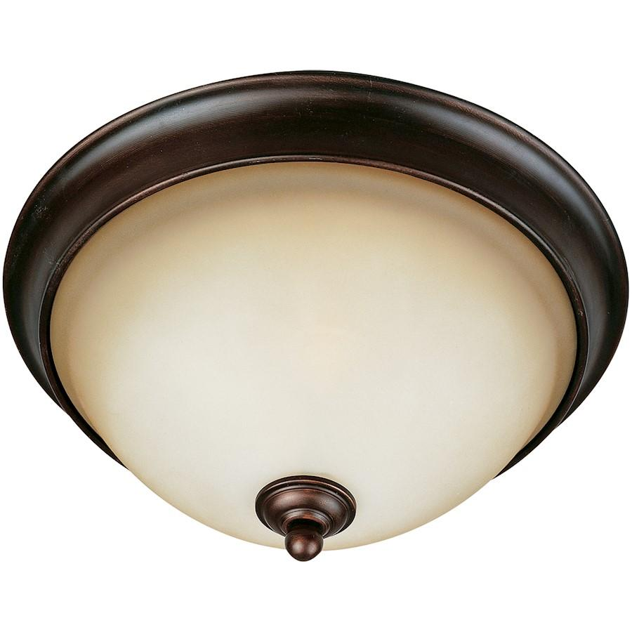 Maxim Bolero 2-Light Flush Mount, Oil Rubbed Bronze