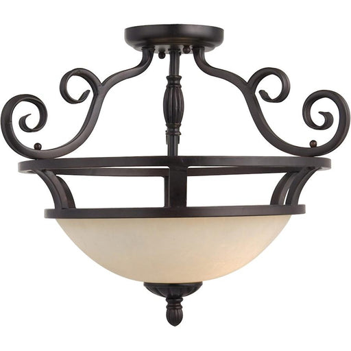 Maxim Manor 2-Light Semi-Flush Mount, Oil Rubbed Bronze