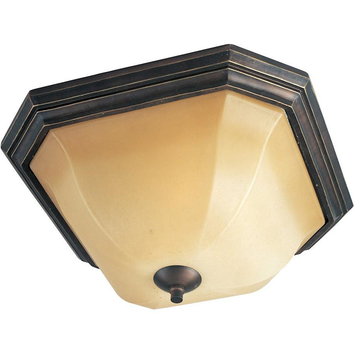 Maxim Chelsea 2-Light Flush Mount, Weathered Russet