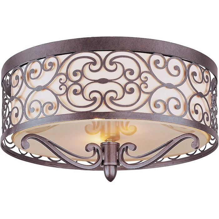 Maxim Lighting Mondrian 2-Light Flush Mount, Umber Bronze