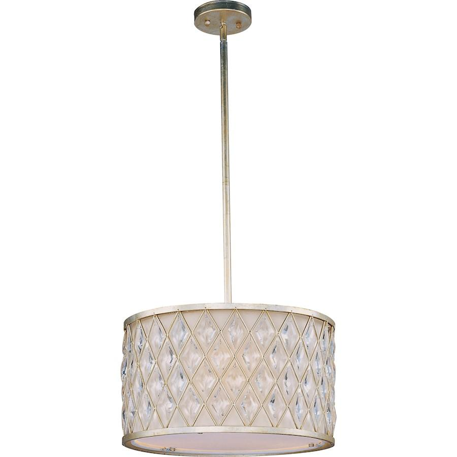 Maxim Lighting Diamond Pendant, Golden Silver