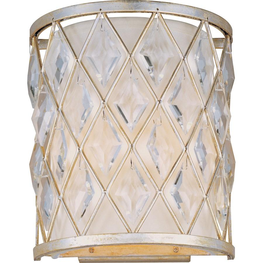 Maxim Lighting Diamond 1 Light Wall Sconce, Golden Silver
