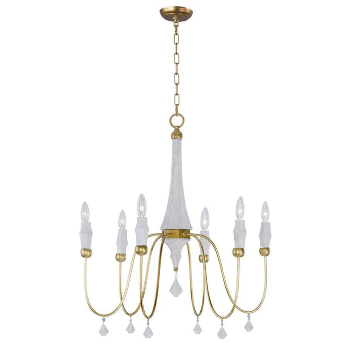 Maxim Lighting Claymore Chandelier, Claystone
