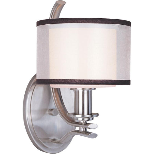 Maxim Lighting Orion 1-Light Wall Sconce Satin Nickel