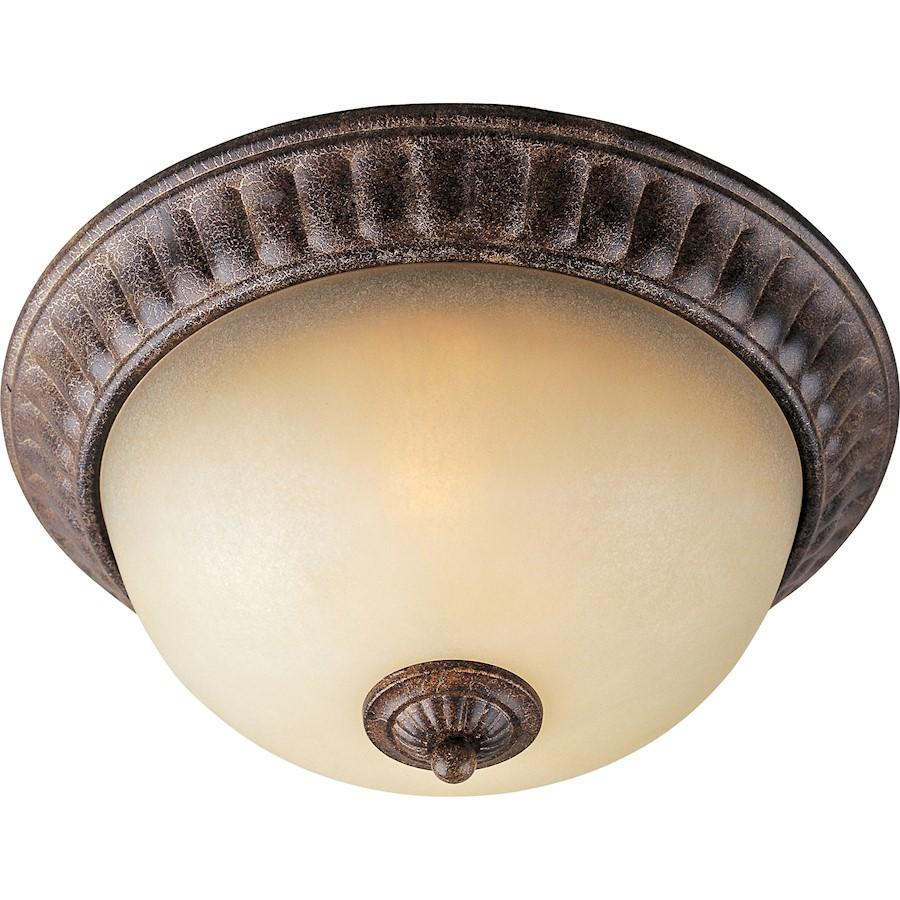 Maxim Lighting Beaumont 2-Light Flush Mount, Golden Fawn