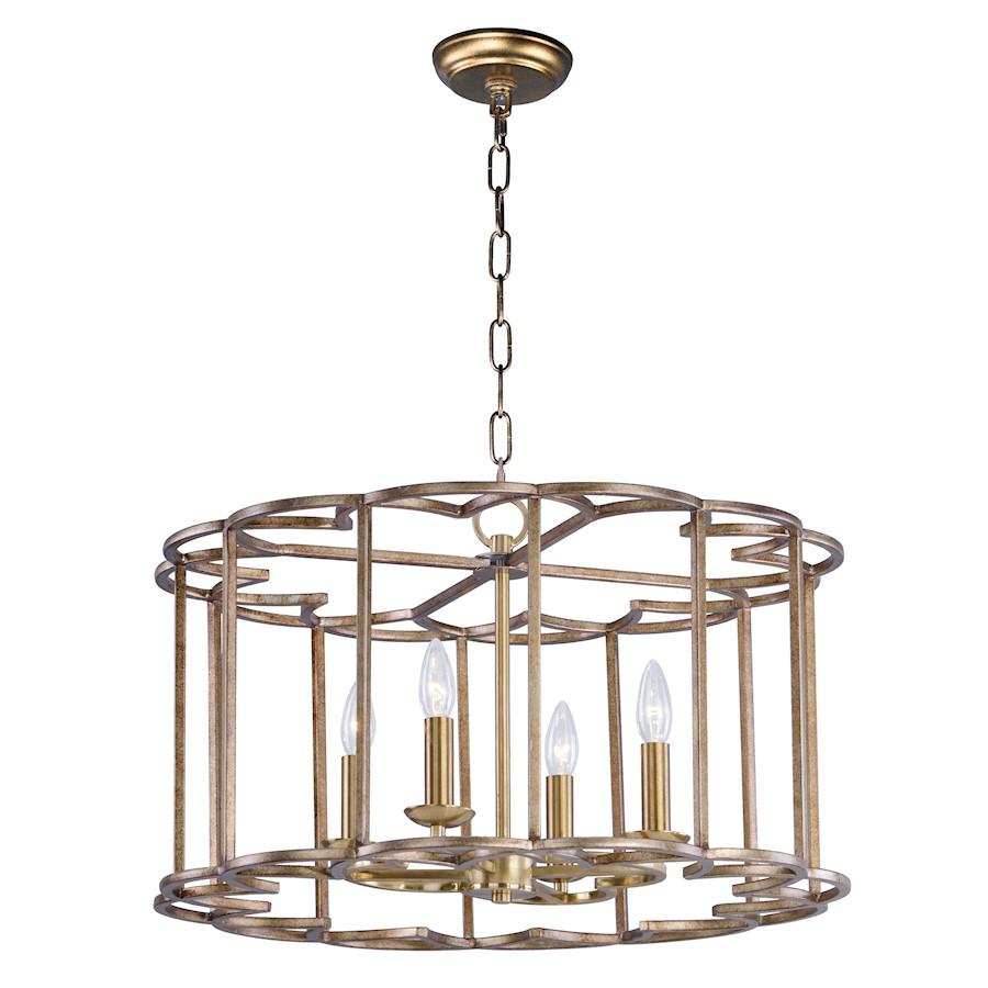 "Maxim Lighting 14.5"" x 24"" Helix 4 Light Chandelier, Bronze Fusion"