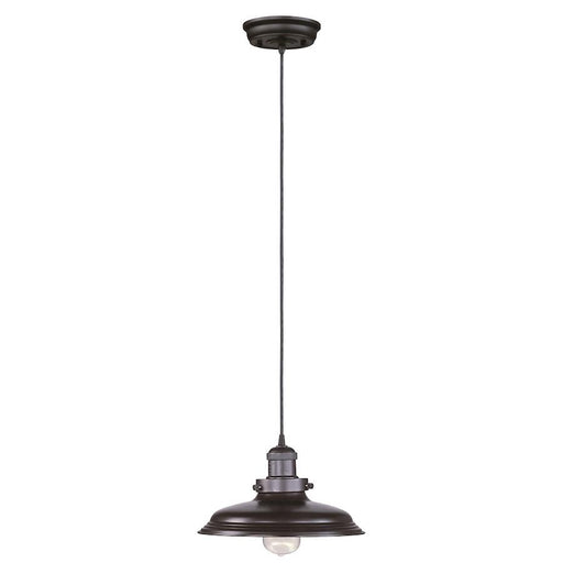 "Maxim Lighting 11"" Mini Hi-Bay 1 Light Pendant, Bronze"