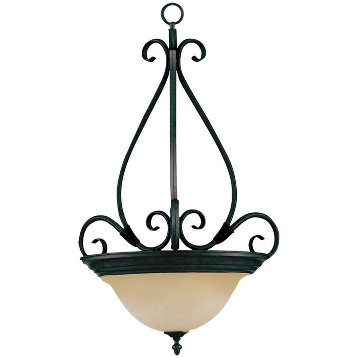 Maxim Pacific 3 Light Invert Bowl Pendant, Kentucky Bronze