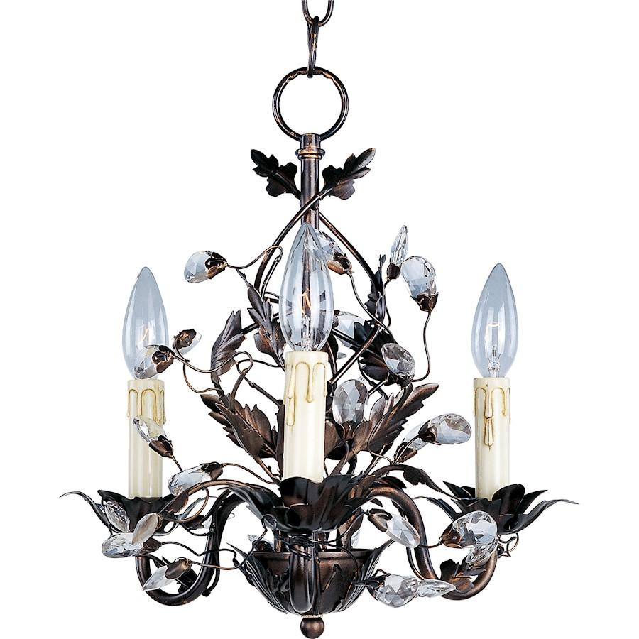 Maxim Lighting Elegante 3 Light Chandelier Oil Rubbed Bronze