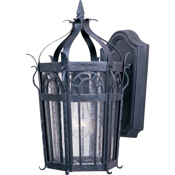 Maxim Cathedral 1-Light Outdoor Wall Lantern, Country Forge