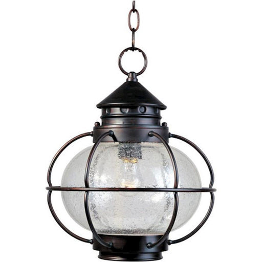 Maxim Portsmouth 1-Light Outdoor Hanging Lantern, Bronze