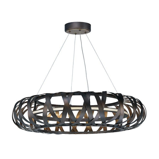 Maxim Weave LED 1 Light Chandelier, Bronze Gold