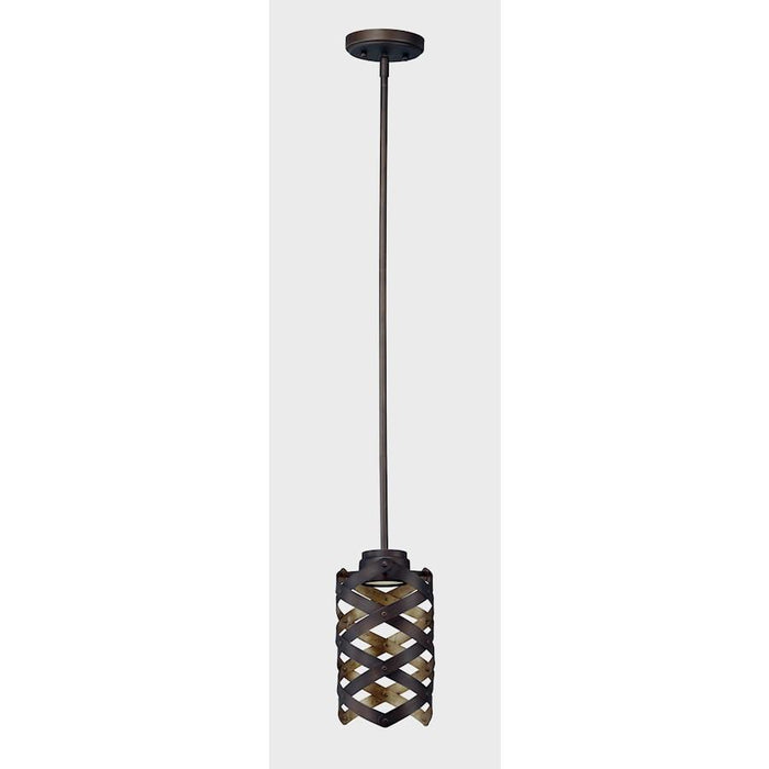 Maxim Weave LED 1 Light Mini Pendant, Bronze Gold
