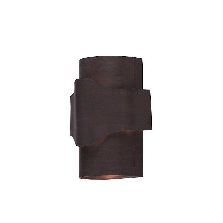Maxim Flow 1 Light LED Wall Sconce, Bronze Gold