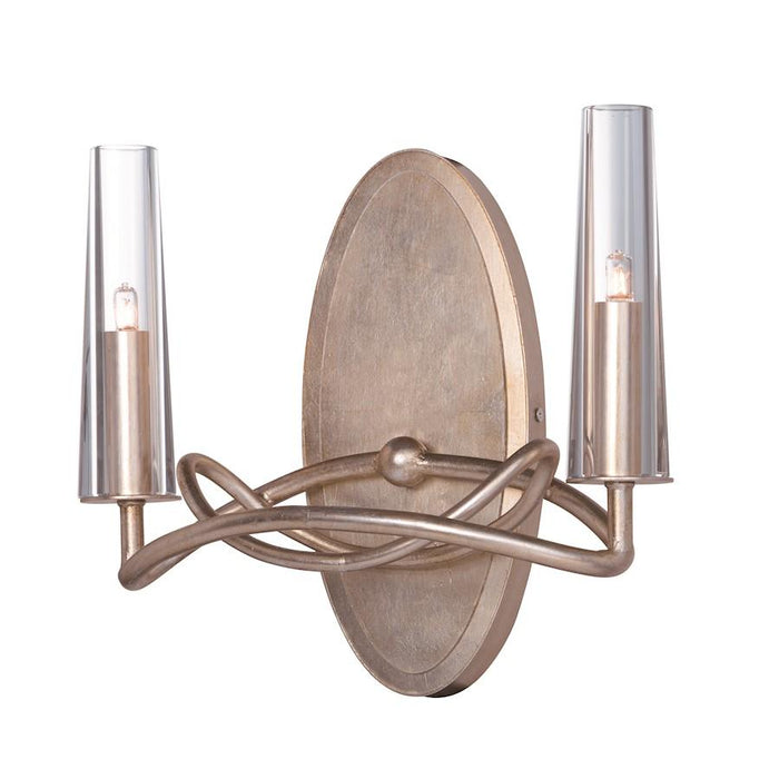 Maxim Lighting Entwine 2 Light Wall Sconce, Golden Silver