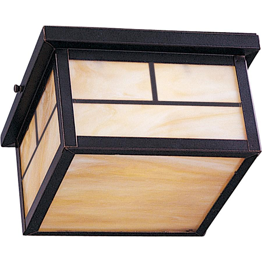 Maxim Coldwater 2-Light Outdoor Ceiling Mount, Burnished