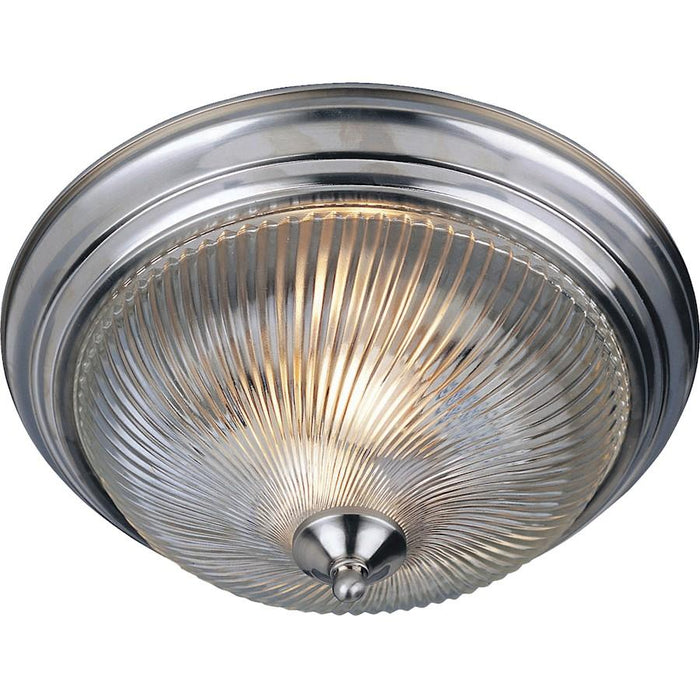 Maxim Lighting 2-Light Flush Mount, Clear Glass