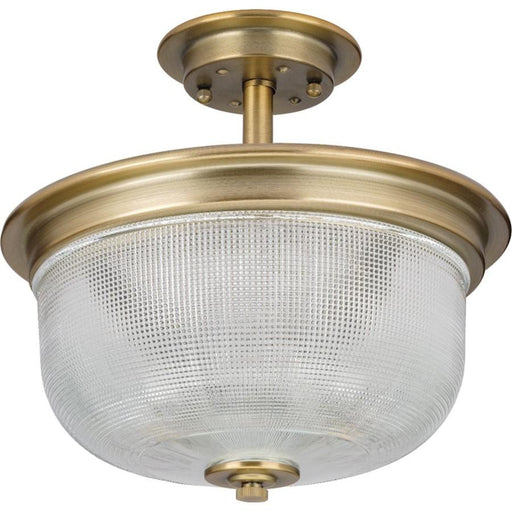 Progress Lighting Archie 2-Light Semi-Flush, Brass