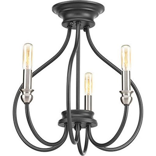 Progress Whisp 3 Light Semi-Flush Convertible, Graphite