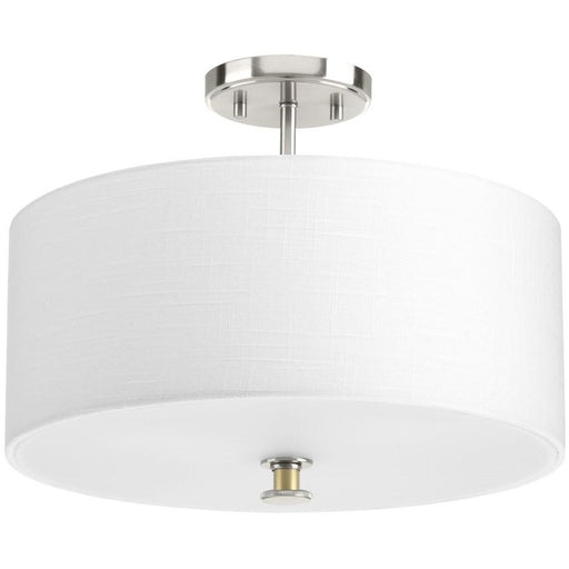 Progress Lighting Cordin Semi-Flush Convertible, Brushed Nickel