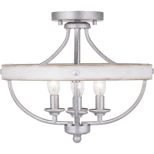 Progress Lighting Gulliver 4-Light Semi-Flush, Galvanized