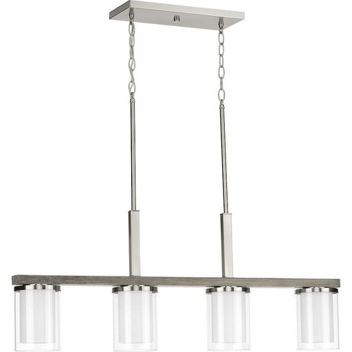 Progress Lighting Mast 4-Light Linear Chandelier
