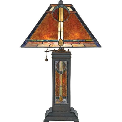 Quoizel 2 Light San Gabriel Table Lamp, Valiant Bronze