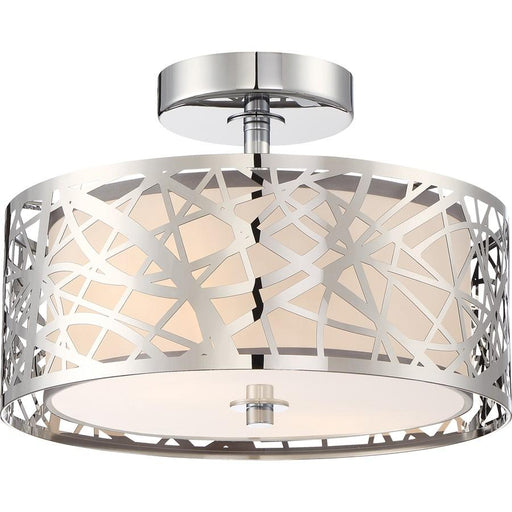 Quoizel Platinum Collection Abode Semi-Flush Mount, 2 Light, Polished Chrome