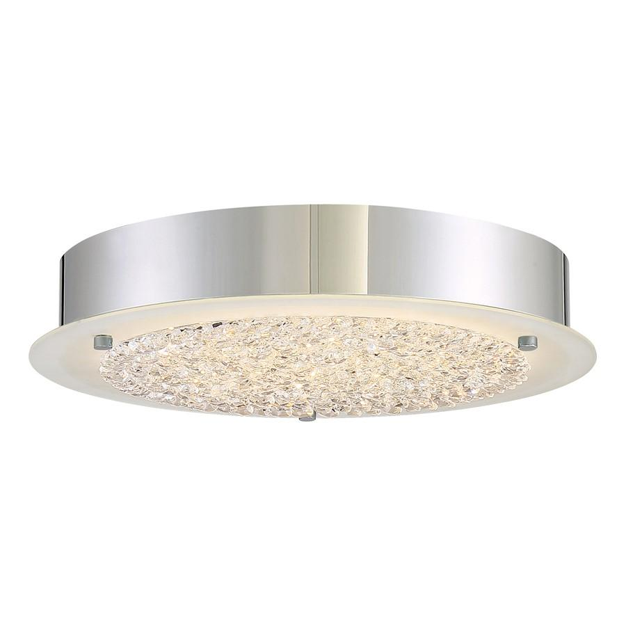 Quoizel Platinum Collection Blaze Flush Mount, 18 Light, Polished Chrome
