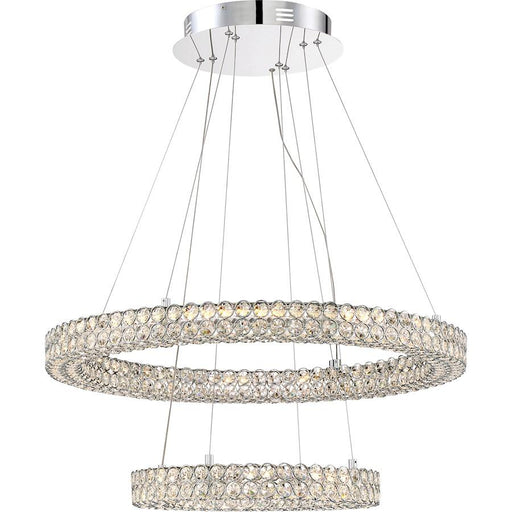 Quoizel Platinum Infinity Light Pendant, Polished Chrome